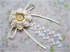 crochet flower brooch...so feminine and pretty!