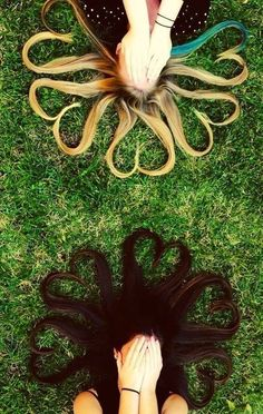 Cute for besties! (: blonde + brunette