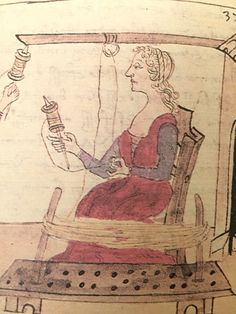 Detail 2 page 31 Spinning, Medieval Crafts, Firenze, 15th Century, Woven Fabric, Fiber Art, Masters, Vintage World Maps, Weaving
