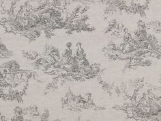 Cabbages & Roses Toile de Poulet Grey Fabric
