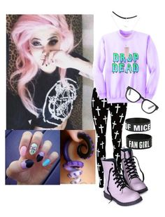 Designer Clothes, Shoes & Bags for Women Outfits Kawaii, Cute Emo Outfits, Pastel Goth Outfits, Pastel Goth Fashion, Scene Outfits, Punk Outfits, Kawaii Clothes, Cosplay Outfits, Kawaii Fashion