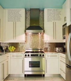 6 Portentous Useful Tips: Glass Backsplash Ideas backsplash kitchen arabesque.Stained Wood Backsplash shiplap backsplash over tile.Mother Of Pearl Backsplash Iridescent Tile. Copper Backsplash, Herringbone Backsplash, Kitchen Backsplash, Penny Backsplash, Stainless Backsplash, Kitchen Vent, Backsplash Ideas, Mirror Backsplash, Beadboard Backsplash