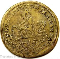 """1610 Henri IIII """"ANY VICTORY COMES FROM THE LORD"""" French Brass Jeton! sku #JN10"""
