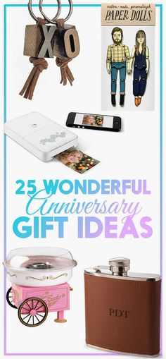 25 Clever Spins On Traditional Anniversary Gifts--for the first 5 years