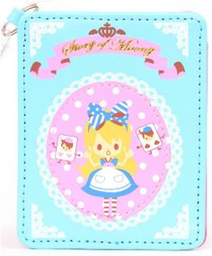 Alice in Wonderland fairy tale credtit card holder pass case