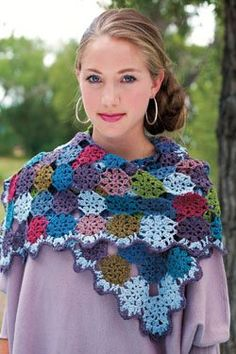 Corona Borealis Scarf by Kathy Merrick This gorgeous crochet motif scarf would be the perfect stash-busting project.