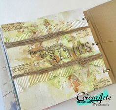 Art journal  with ColourArte by Cindy Brown #24