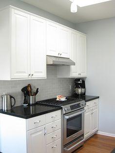 White kitchen with Silestone Quartz Marengo Countertops ...