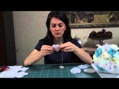 DIY - Bouquet de broches e tecidos - 3ª parte - YouTube
