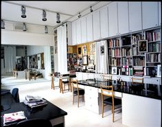 the studio where Saint Laurent worked from 1961 to his retirement in 2002