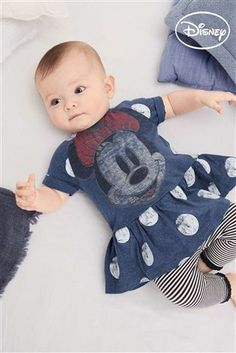 Buy Navy/White Minnie Mouse™ Spot Dress (0mths-2yrs) from the Next UK online shop