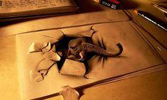 Artist Fredo - 3D pencil drawings