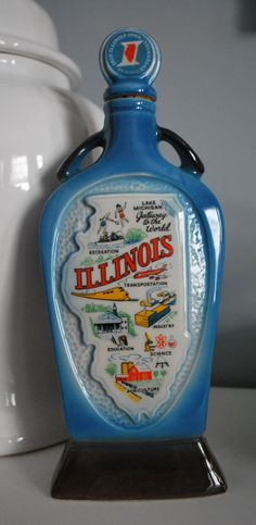 Vintage 1968 Jim Beam Whiskey Decanter  Home of by TheRealDelia, $18.00