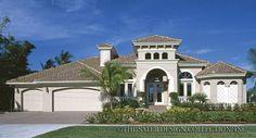 luxury mediterranean homes front elevation - Google Search