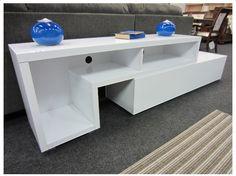 WHITE TV & HUTCH UNIT Office Desk, Decor, White Tv, Furniture, Office, Home, Corner Desk, Home Decor, Furniture Auctions