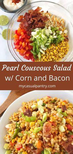 Pearl Couscous Recipes, Pearl Couscous Salad, Couscous Dishes, Israeli Couscous Salad, Couscous Salad Recipes, Coucous Salad, Main Dishes, Side Dishes, Salad Bar