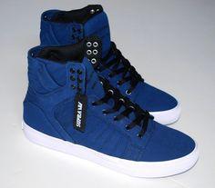 NEW SUPRA MENS SKYTOP SKATE SHOE SNEAKERS - NAVY BLACK WHITE SIZE 12 CHAD MUSKA #Supra #AthleticSneakersskateboardingcasualshoes