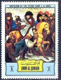 1972- Napoleone  sul campo di battaglia di Eylau dipinto di Gros