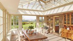 Bespoke timber orangery interior
