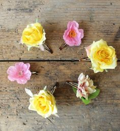 Barrettes fleuries pour petites ou grandes filles {tuto} - How to make flwer spins pour little girls ? - Pure Famille
