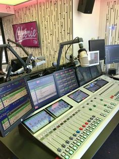 Chérie FM studio in France.