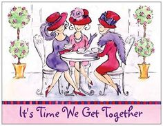 Red Hat Ladies | Red Hat Ladies Invite 8 Pack with Envelopes- $10.00