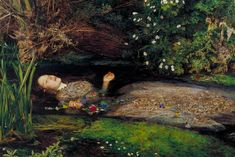 Ophelia is a painting by British artist Sir John Everett Millais, completed in Currently held in the Tate Britain in London, it depicts Ophelia, a character from Shakespeare's play Hamlet, singing before she drowns in a river in Denmark. John Everett Millais Ophelia, Ophelia Painting, Elizabeth Siddal, Pre Raphaelite Paintings, Tableaux Vivants, Pre Raphaelite Brotherhood, Dante Gabriel Rossetti, John William Waterhouse, Tate Britain