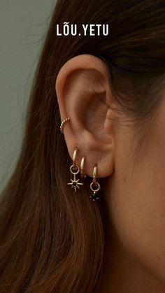 Ear Jewelry, Photo Jewelry, Cute Jewelry, Jewelery, Jewelry Accessories, Jewelry Design, Ear Piercings Rook, Pretty Ear Piercings, Et Tattoo