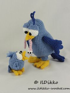 Amigurumi Crochet Pattern - Burton and Bertie the Birds