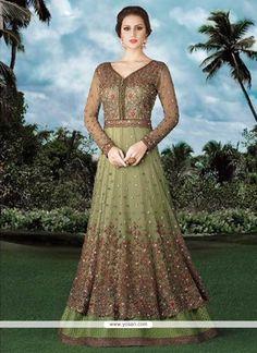 Versatile Green Anarkali Salwar Kameez Model: YOS8747