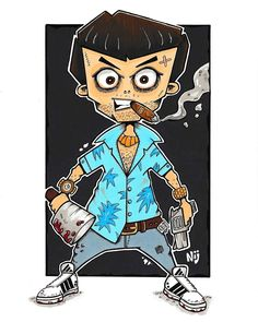 "Neil Hartley on Instagram: ""My version of Vice City's Tommy Vercetti . . . #tommyvercetti #vicecity #art #gtavicecity #gta4 #gta5 #gtaonline #grandtheftauto #gtaart…"" Gta 4, Copic Art, Gta 5 Online, Grand Theft Auto, Mafia, Fandoms, Fan Art, Wall, Artwork"