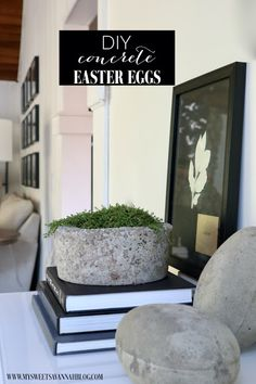 My Sweet Savannah: DIY concrete Easter eggs Easter Projects, Diy Projects, Diy Concrete, Cement, Paint Stirrers, Egg And I, Savannah Chat, Easter Eggs, Decorating