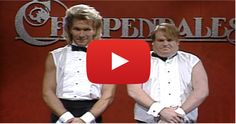 Chris Farley And Patrick Swayze As Chippendale Dancers