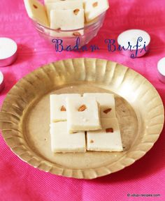The magic power of badam burfi draws you in and never lets you go. No soaking, No consistency checking involved.