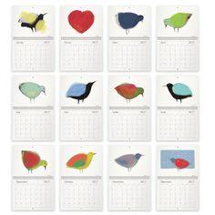 Calendrier des oiseaux 2017  12 superbes par AuxOiseaux sur Etsy Art Textile, Illustrations, Creations, Etsy, Boutiques, Images, Collections, Gifts, Glass Art