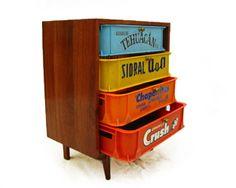 By VikServin Ltd. Diy Interior Furniture, Car Furniture, Simple Furniture, Milk Crate Furniture, Recycled Art, Repurposed Furniture, Plastic Crates, Milk Crates, Eclectic Decor