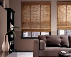 Create a natural state of beauty in a living space with Provenance® Woven Wood Shades. ♦ Hunter Douglas window treatments