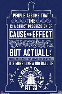 Doctor Who Wibbly Wobbly Timey Wimey Quote Tardis Illustration Sci Fi British TV Television Show Poster Print 24x36 from Poster Art House Disc: Affiliate Link