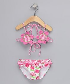 Pink Posy Flower Bikini - Infant, Toddler & Girls by P.S. by Sweet Potatoes on #zulily today!