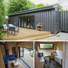 🎄Are You Looking For A Step-By-Step Shipping Container Home Guide which includes Hundreds of Modular Container Home Detailed Plans? Building A Container Home, Container Buildings, Container Architecture, Container House Plans, Container House Design, Tiny House Design, Shipping Container Cabin, Modular Homes, Future House