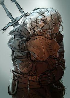 Geralt and Ciri by TheMinttu