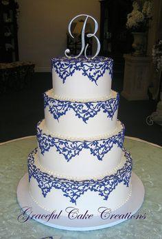 https://flic.kr/p/kaW3E9 | Elegant Purple Lace Wedding Cake