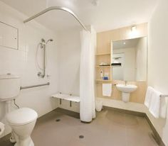 Many new house plans include at least one accessible bathroom in the overall plan because of the increase in marketability […] Wet Room Bathroom, Handicap Bathroom, Small Space Bathroom, Bathroom Renos, Bathroom Renovations, Disabled Bathroom, Bathroom Safety, Master Bathroom, Bathroom Design Software