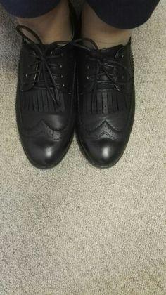 2016 Sapatos Oxford para As Mulheres de Couro Macio Estilo Britânico Retro Saltos Quadrados Rendas até Sapatos Casuais Mulher Oxfords Preto XWB0006-5 Loja Online | aliexpress móvel