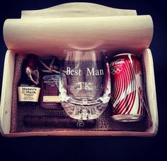 Great idea for Best Man and Groomsmen