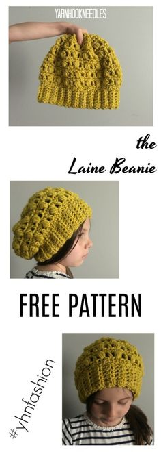 30 Days of Beanies! Learn how to make the Laine Beani with this FREE Pattern! - YarnHookNeedles -