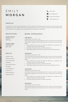 Are you looking for a free cv example? Sign up for our job hunting tips and download this examples for free. You can easily adjust it in Microsoft Word or Pages. Cv Template Word, Best Cv Template, Job Resume Template, Modern Resume Template, Creative Resume Templates, Layout Template, Modern Resume Format, Format Cv, Job Resume Format