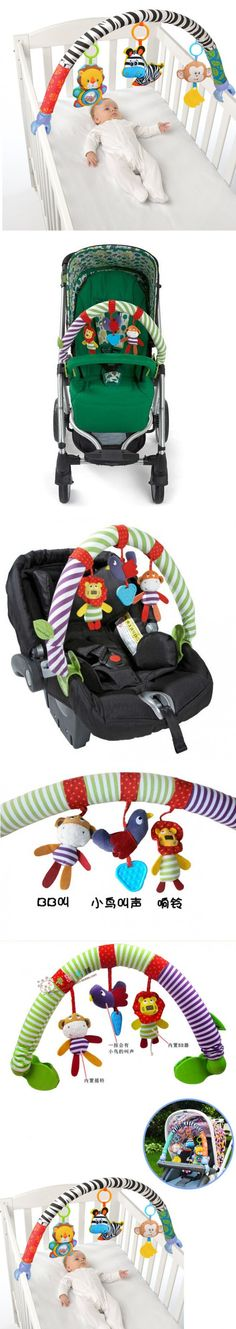 Hot sale lovely Stroller Lathe Car Seat Cot Hanging toys baby play Travel Newborn infant baby Toys educational rattles mobile $4.33