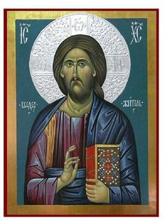 Jesus Christ hand painted orthodox icon by ArtByChimevi on Etsy