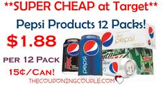 HOT HOT HOT DEAL! Stock up! Grab Pepsi Products 12 Packs for only $1.88 each! Around $0.15 per can! GREAT TARGET DEAL!  Click the link below to get all of the details ► http://www.thecouponingcouple.com/hot-pepsi-products-12-packs-2-target/ #Coupons #Couponing #CouponCommunity  Visit us at http://www.thecouponingcouple.com for more great posts!